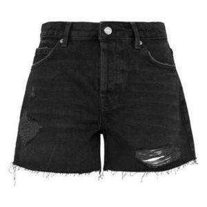 Topshop Distressed Denim Shorts